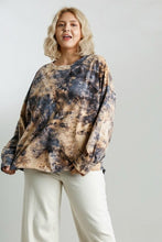 Load image into Gallery viewer, Umgee Long Sleeve Tie Dye Top in Golden Yellow