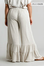 Load image into Gallery viewer, Umgee Oatmeal Ruffle Pants
