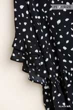 Load image into Gallery viewer, Dalmatian Print Top by Umgee in Black - June Adel