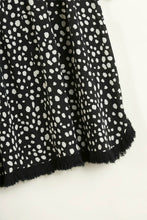 Load image into Gallery viewer, Umgee Black Button Front Top with Dalmatian Print Back