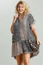 Load image into Gallery viewer, Umgee Mocha and Black Mixed Animal Print Dress