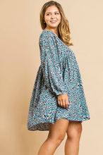 Load image into Gallery viewer, Umgee Teal Printed Dress