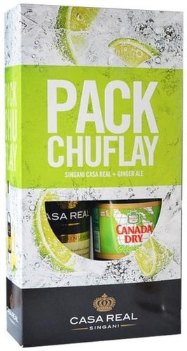 Casa Real - Pack Chufly (Singani Etiqueta Negra 750cc + Ginger Ale 1Lt)
