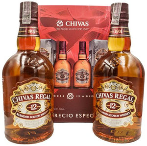 Chivas Regal - Pack (2 Chivas Regal 12 Años 750cc) - Blended Scotch Whisky - Escocia - 2x750cc