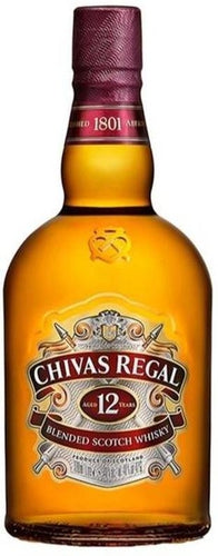 Chivas Regal - 12 Años - Blended Scotch Whisky - Escocia - 1000cc