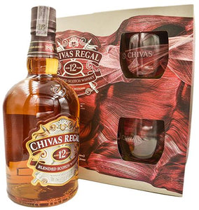 Chivas Regal - Pack (1 Chivas Regal 12 Años 1000cc + 2 Vasos) - Blended Scotch Whisky - Escocia