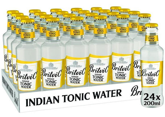 Britvic - Pack (24 Indian Tonic Water 200cc) - Agua Tónica - Inglaterra - 24x200cc