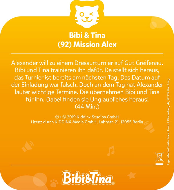 tigercard: Bibi & Tina - Mission Alex