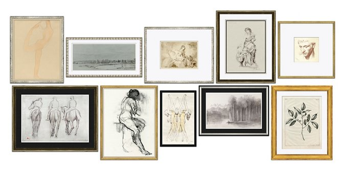 10-Pc Drawings Gallery Wall