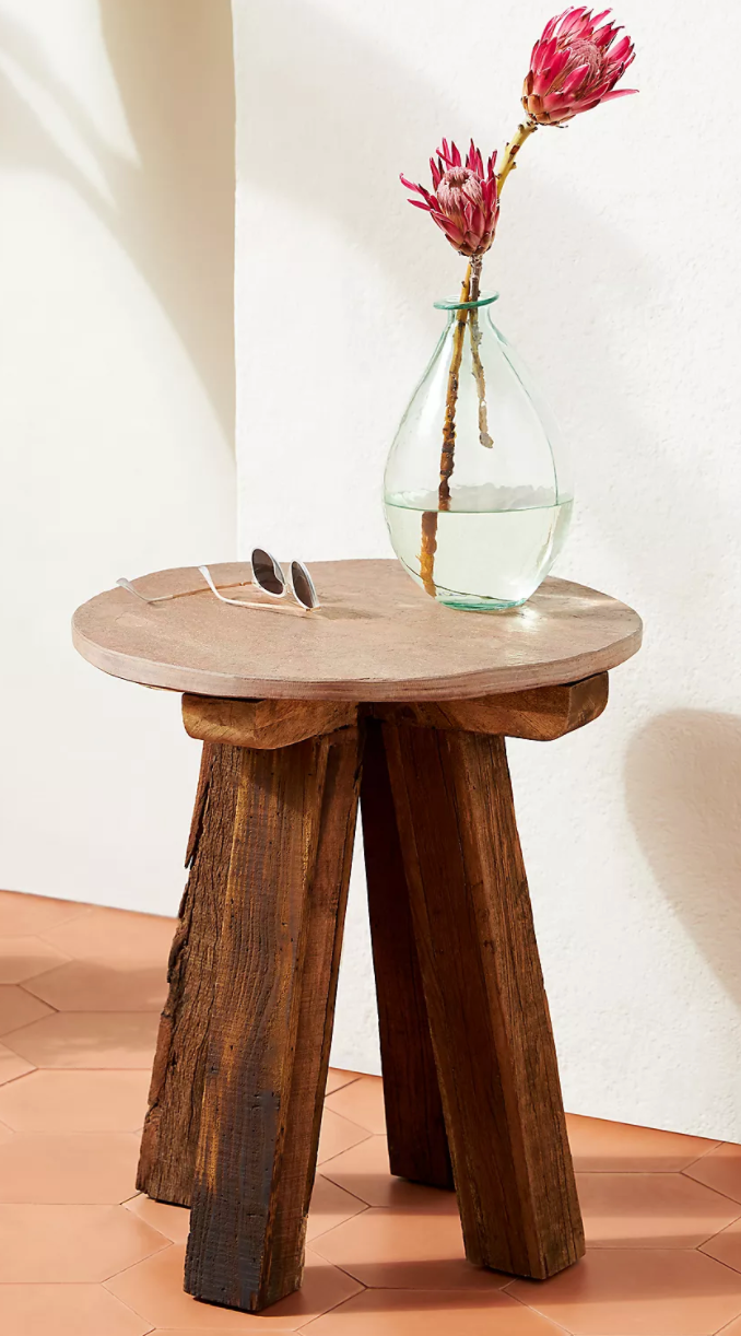 Slate Indoor/Outdoor Side Table