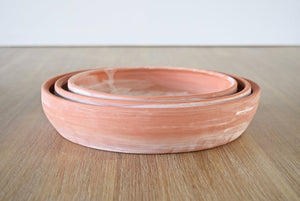 Terra-cotta decorative bowls