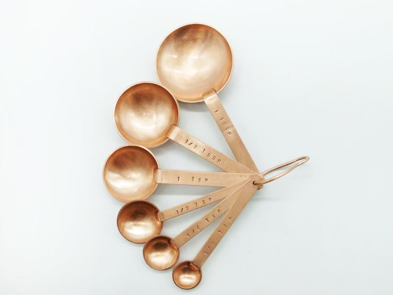 Handmade Copper 5+1 Measuring Spoon Set