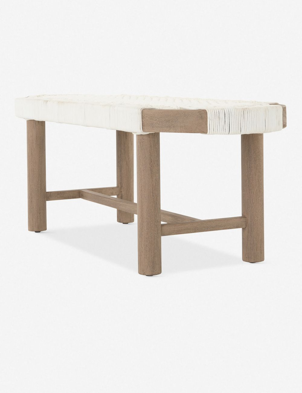 Arina Indoor / Outdoor Bench, Washed Brown