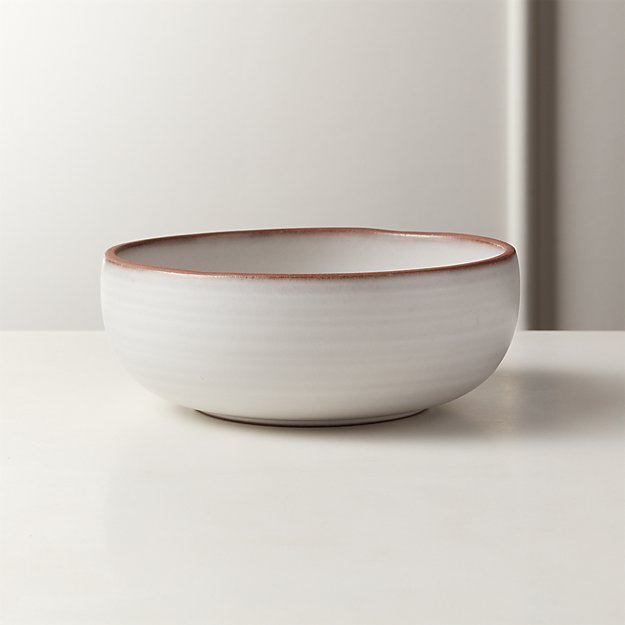 MADERA WHITE TERRACOTTA SOUP BOWL