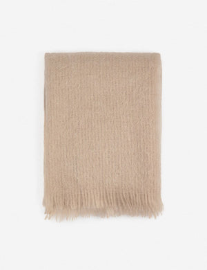 AIMEE MOHAIR THROW, BLUSH