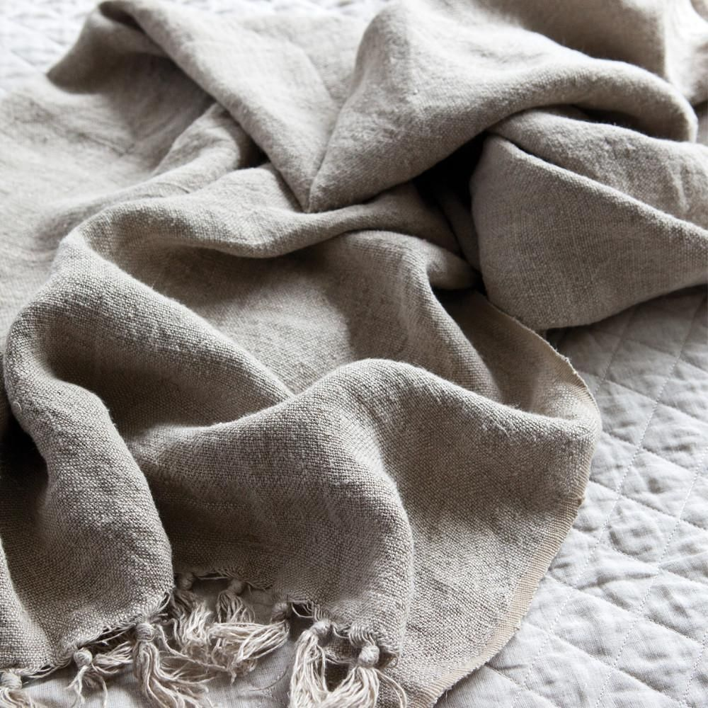 POM POM AT HOME MONTAUK BLANKET, NATURAL