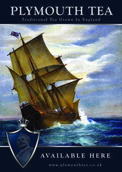 A3 Plymouth Tea Poster of Ship