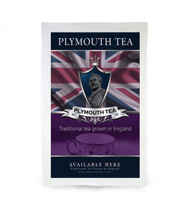 Plymouth Tea Tea Towel with image of Earl Grey Box