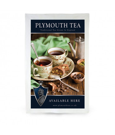 Plymouth Tea Tea Towel with Rustic Tea and Snacks