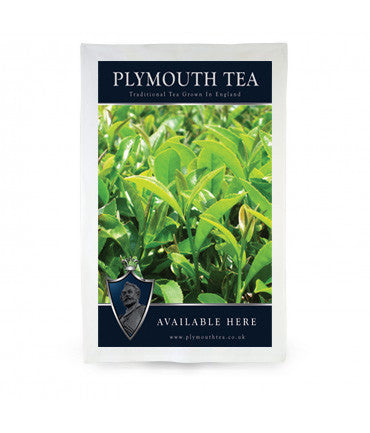 Plymouth Tea Tea Towel with Tea Bush