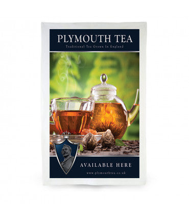 Plymouth Tea Tea Towel with Tea Pot and Cup