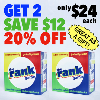 The Rank Game 2-Pack––Keep 1, Give 1––SAVE 20%