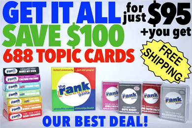 The Rank Game (3 packs) + All 11 Expansion Packs = 14 packs –– SAVE $100!