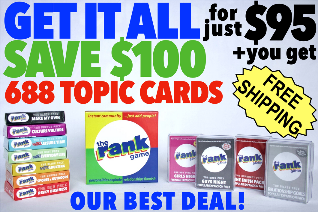 The Rank Game + All 11 Expansion Packs––SAVE $100!