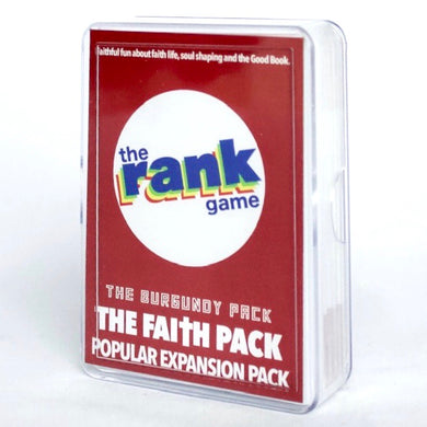 Faith Pack: The Burgundy Expansion & Standalone Pack for The Rank Game