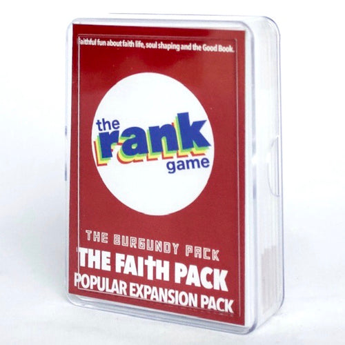 Faith Pack: The Burgundy-colored Expansion Pack & Standalone Pack for The Rank Game