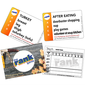 THE RANK GAME Thanksgiving Pack