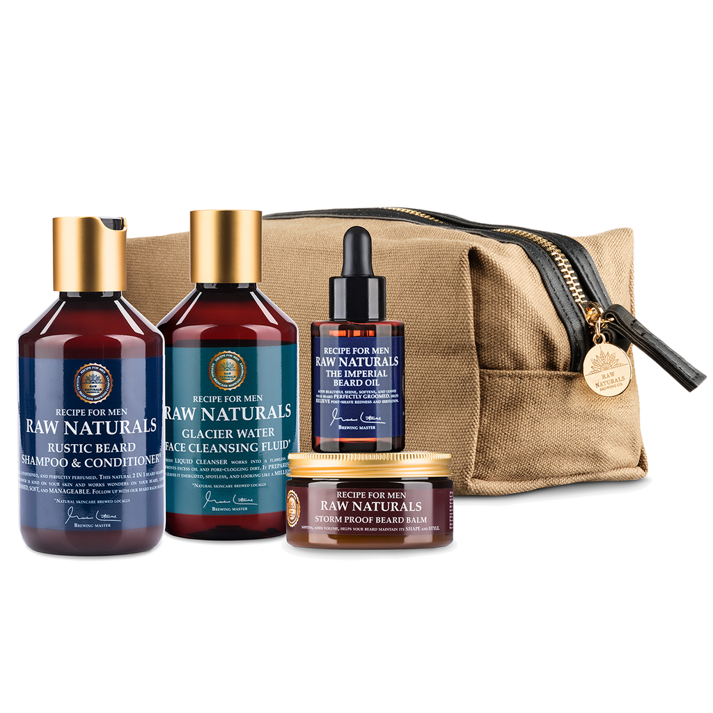 Raw Naturals Face & Beard Care Kit