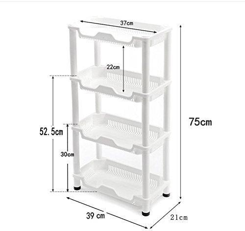 Kitchen Shower Plastic Rectangle Caddy storage Unit Storage Shelf