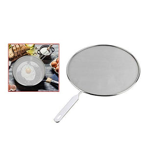 29 cms Grease Splatter Screen for Pans / Stops 99% of Hot Oil Splash - Protects Skin from Burns - Splatter Guard for Cooking - Stainless Steel Kitchen