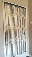 Load image into Gallery viewer, Hanging Wooden Bamboo Beaded Door Curtain Screen / 90 x 180