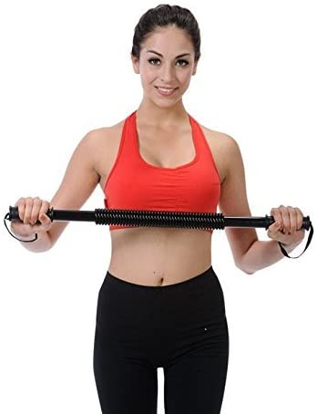 30 KG Practical Power Twister Flexible Strength Chest Shoulder Arm Rod Spring Exerciser/Curl Spring Bar Power Wrist Hand Gripper/Gym Exercise