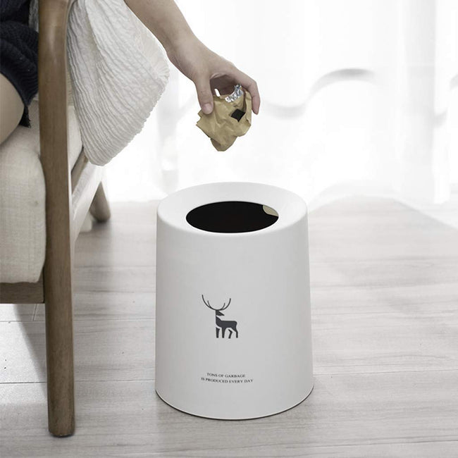 New Stylish & Elegant Designed Dustbin Waste Basket/Bucket | Portable Light-Weight Trash Can Home