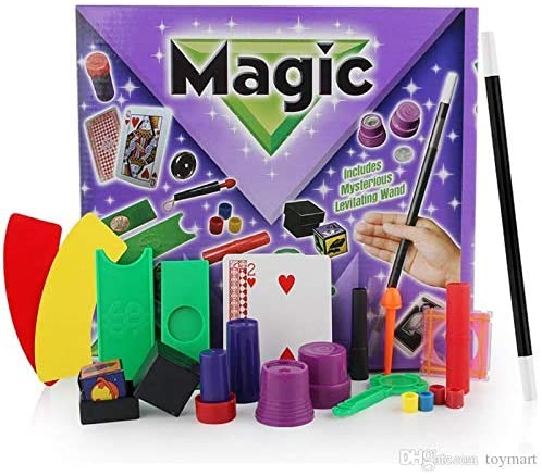 Children's 45 Piece Magic Trick Set | Complete Kit With Magic Wand