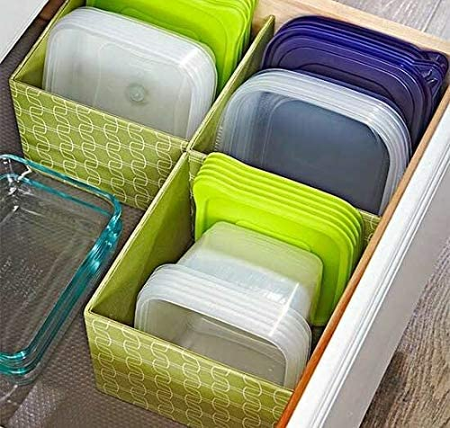4 Layer Plastic Storage Drawer Organiser With Multi Knobs