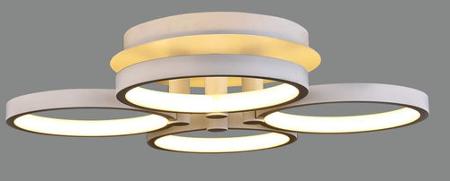 LED 4 Head Ring Design 3 Colour Remote Control Ceiling lamp 45W [Energy Class A+] Lighting