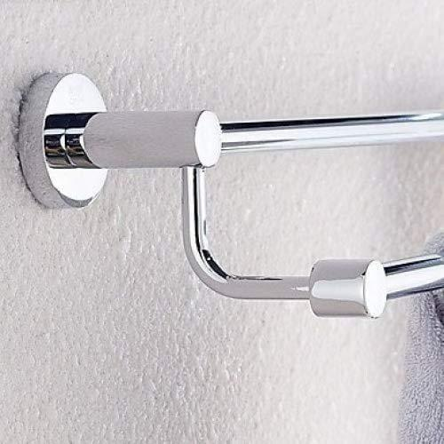 Stainless Steel Wall-Mounted Double Towel Bars / Rods / 24 Inch SS Chrome Finish Wall Mounted / Rust Proof Resistant (201-SS) Bathroom