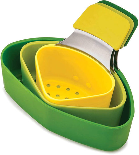 3 in 1 Steam Basket / Nest Steaming Pod Set, 3-Piece - Green