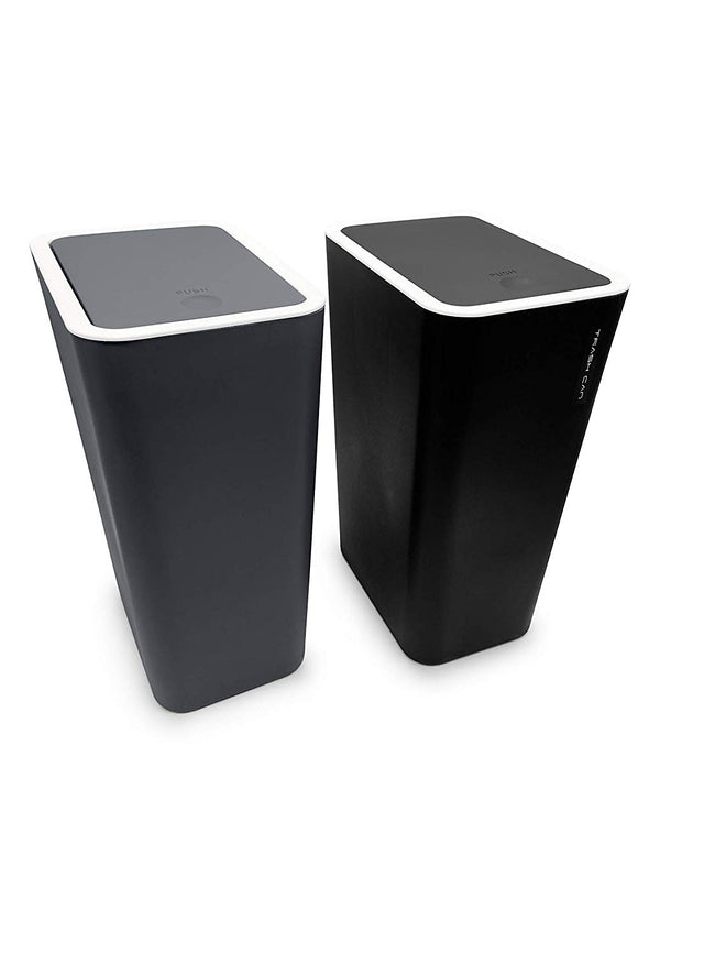 RECTANGULAR Push Bin Plastic Trash bin Garbage Can for kitchen, bedroom, office etc With Lid Home