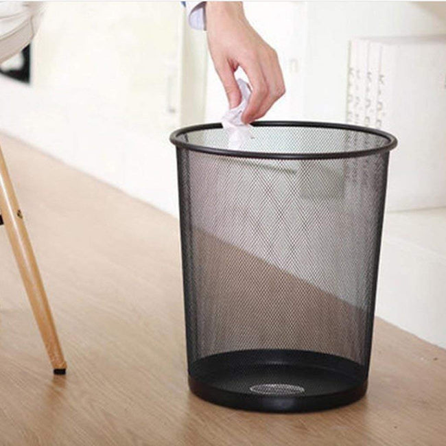New Trash Can/Mesh Bin | Light-Weight Dustbin For Home & Office - Black Home