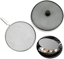 Load image into Gallery viewer, 29 cms Grease Splatter Screen for Pans / Stops 99% of Hot Oil Splash - Protects Skin from Burns - Splatter Guard for Cooking - Stainless Steel Kitchen