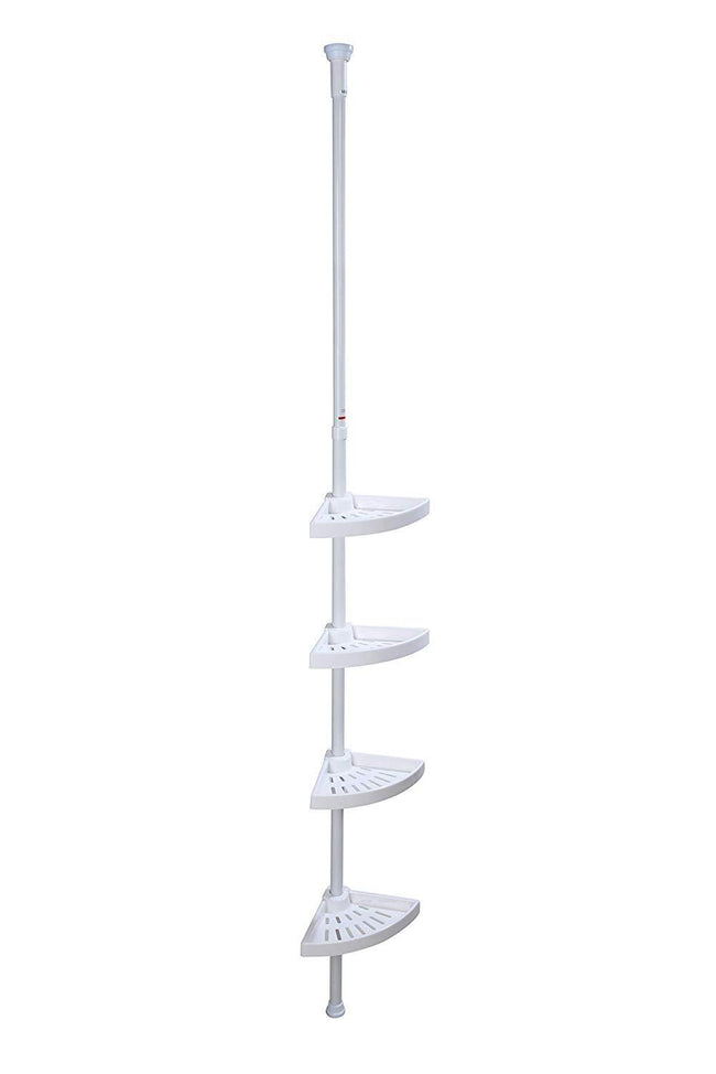 4 Layers Kitchenware And Sanitaryware Caddy Corner Shelf 70 cm - 248 cm, White Caddy