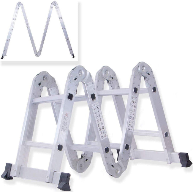 Multipurpose 4x2 Multi-Function Light Weight Aluminium Construct Folding Ladder Ladders