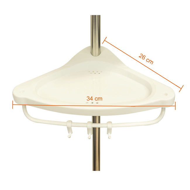 4 Tier Adjustable Stainless Telescopic Shower 1032