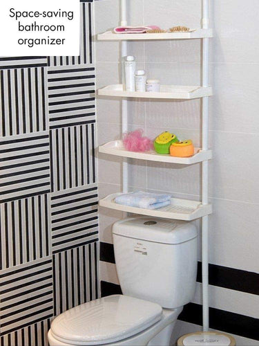Over The Toilet 4 Layered Adjustable Kitchen Bathroom Caddy Shelf