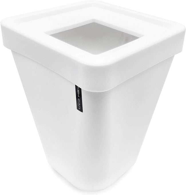 Square Waste Bins Bedroom, Kitchen, Office Plastic Trash Can with Lid Home